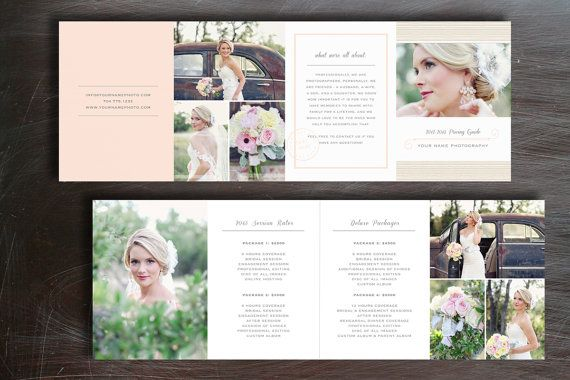 Wedding Pricing Guide - Photography Price List Template - Photo
