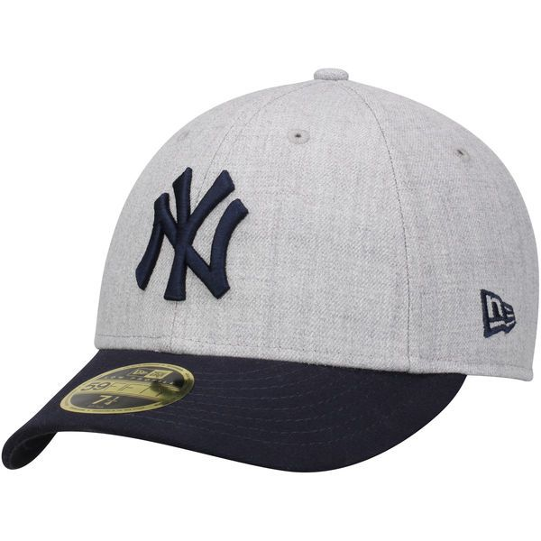 b4e1c1ea154 Men s New York Yankees New Era Heathered Gray Navy Change Up Low Profile  59FIFTY Fitted