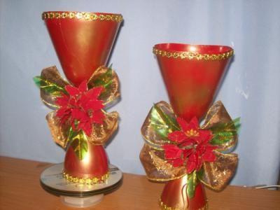 Manualidades navide as con botellas pl sticas cosas - Manualidades con papel navidenas ...