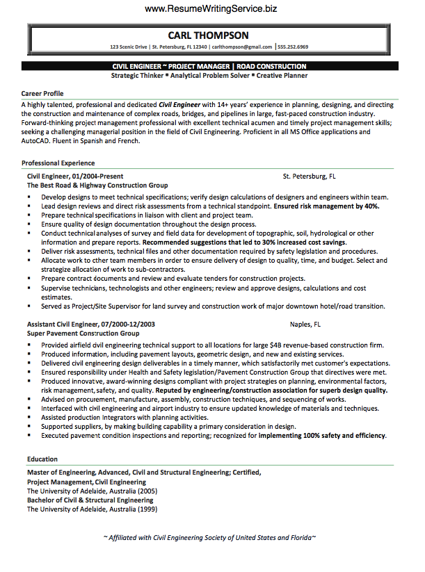 Structural Engineer Resume For Me This Is The Heart Of The Resume Writing Process  We Aren