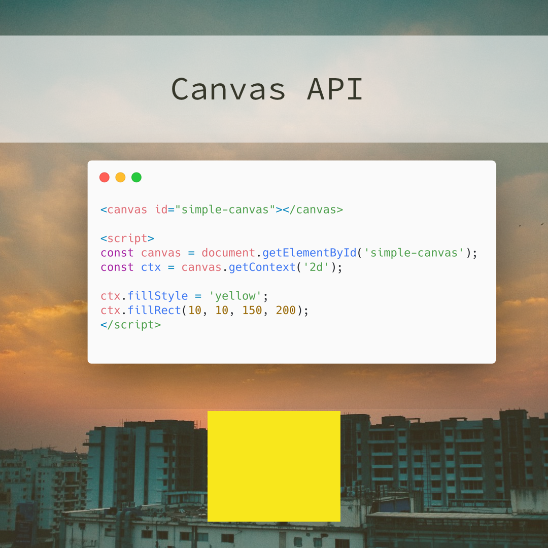 The #canvas API allows you to draw graphics using #Javascript & the