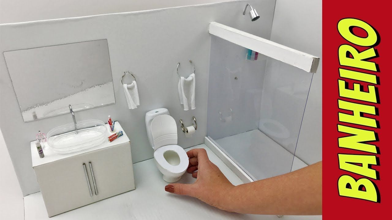 comment faire une salle de bain pour les poup es barbie. Black Bedroom Furniture Sets. Home Design Ideas