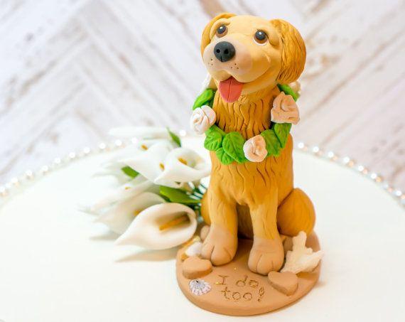 Golden Retriever Wedding Dog Cake Topper Golden By Dogcaketopper