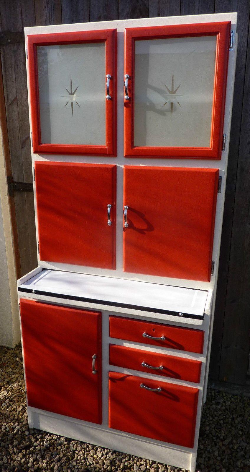 60S Kitchen 1950S60S Kitchen Larder Cupboard  Red Love  Pinterest