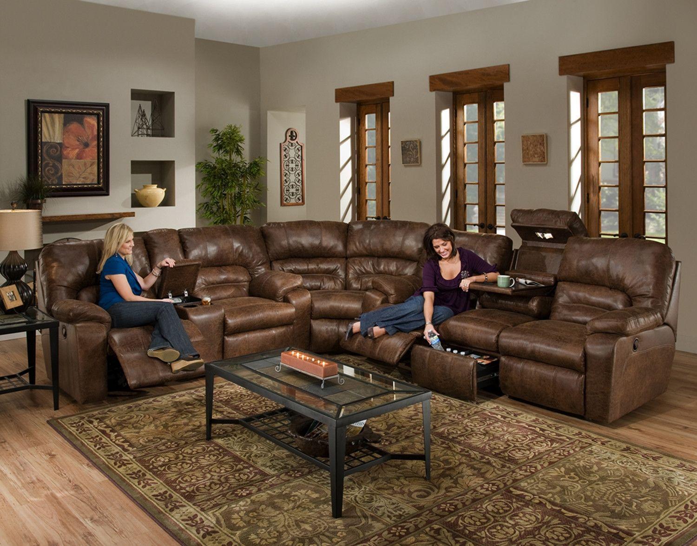 Dakota 3-Piece Reclining Sectional : 3 piece reclining sectional - Sectionals, Sofas & Couches