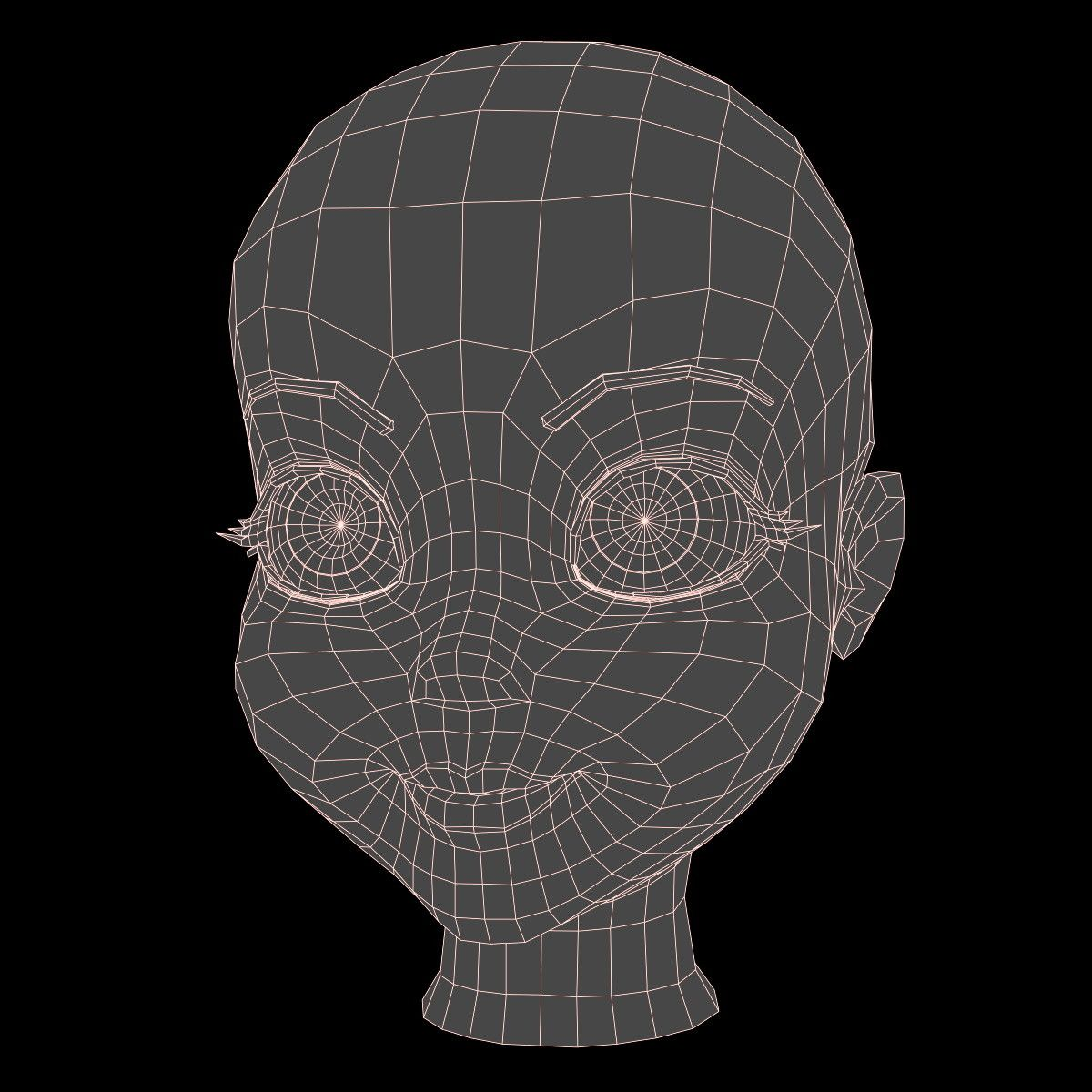 3d cartoon girl head | A - Mesh Studies | Pinterest