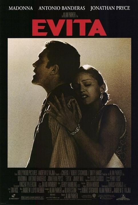 Eva Peron - En 1996, Madonna interprétait le rôle de la politicienne argentine à l'incroyable destin, Eva Peron, dans la comédie musicale Evita. Antonio Banderas lui donnait notamment la réplique.