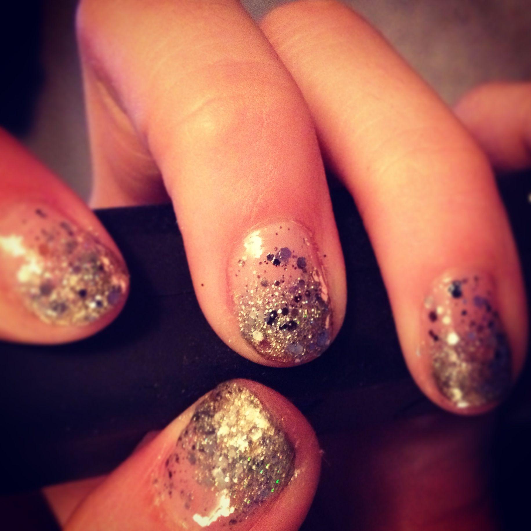 Gold - Silver Glitter Gradient :)