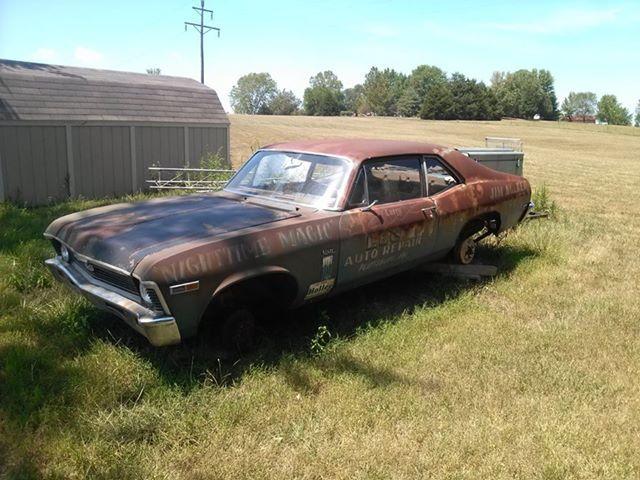 Old Nova Drag Car Barn Find Cars Vintage Muscle Cars Abandoned