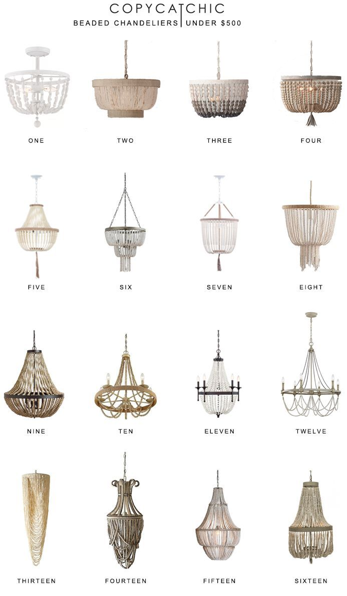 Home #Trends # | #Beaded #Chandeliers #Unter # $ 500 # – #copycatchic #kronleuchterselbstbauen