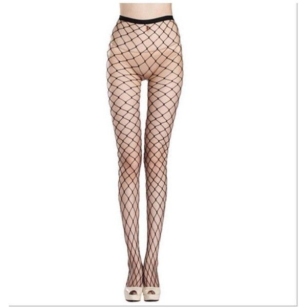 56090ee0e9802 Fashion Women's Sexy Fishnet Pattern Pantyhose Tights Punk Stockings  ($4.99) ❤ liked on Polyvore featuring intimates, hosiery, tights, fishnet  pantyhose, ...