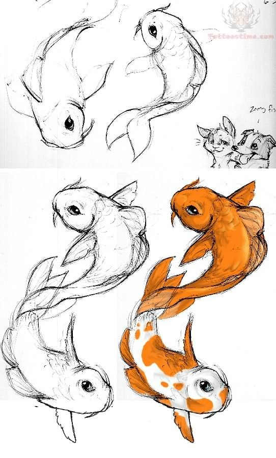 Koi Fish Tattoos Samples Koi Fish Drawing Fish Drawings Drawings