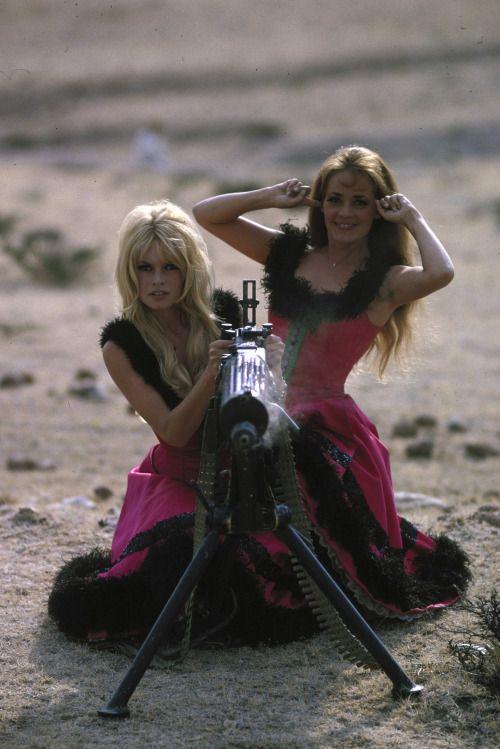 Jeanne Moreau and Brigitte Bardot