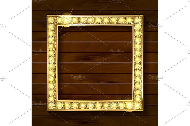 a2db7ae5a6dc Empty golden painting frame  effect picture style background ...