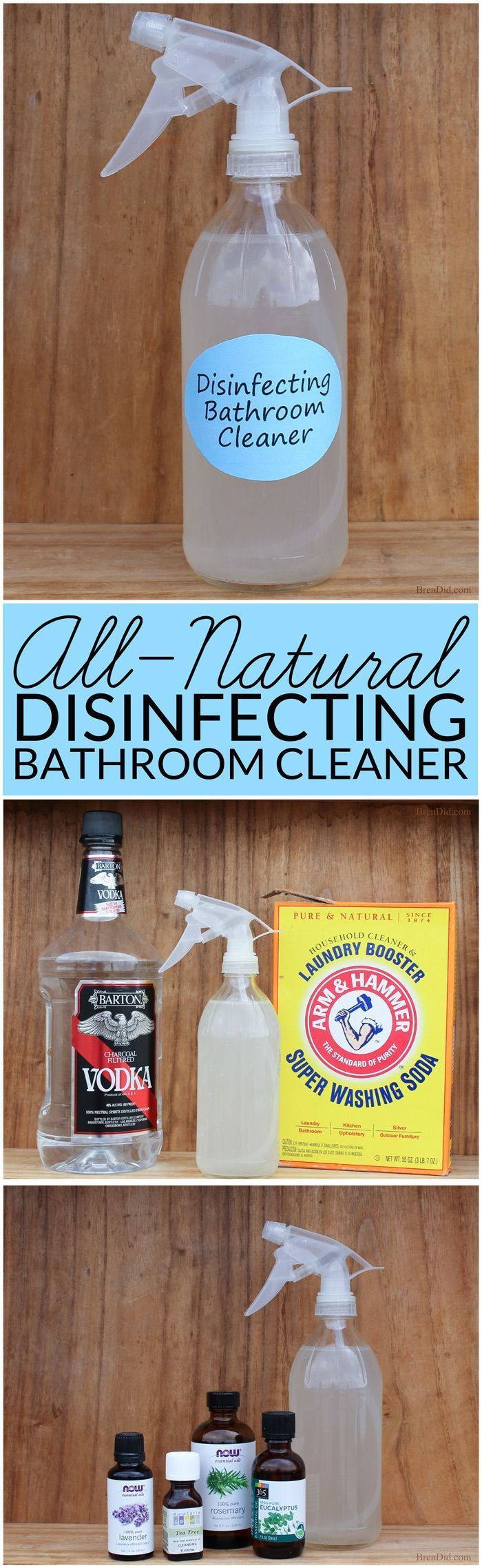 Natural Bathroom Disinfectant Cleaner Diy Cleaning