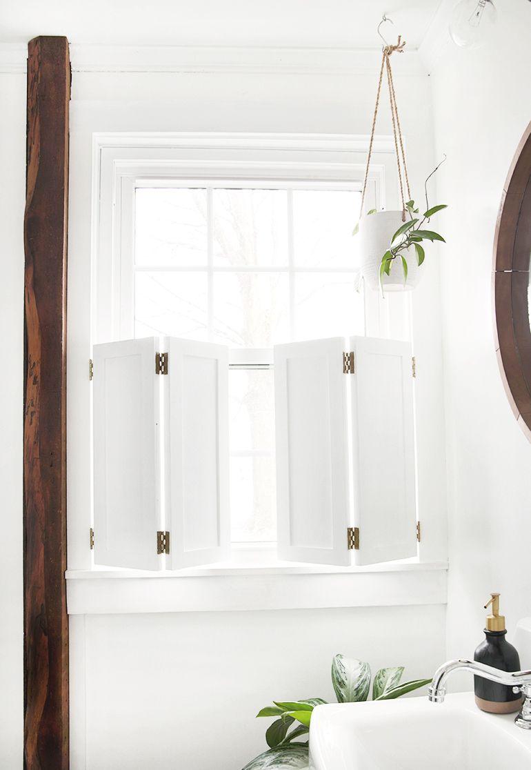 Diy interior window shutters diy interior window