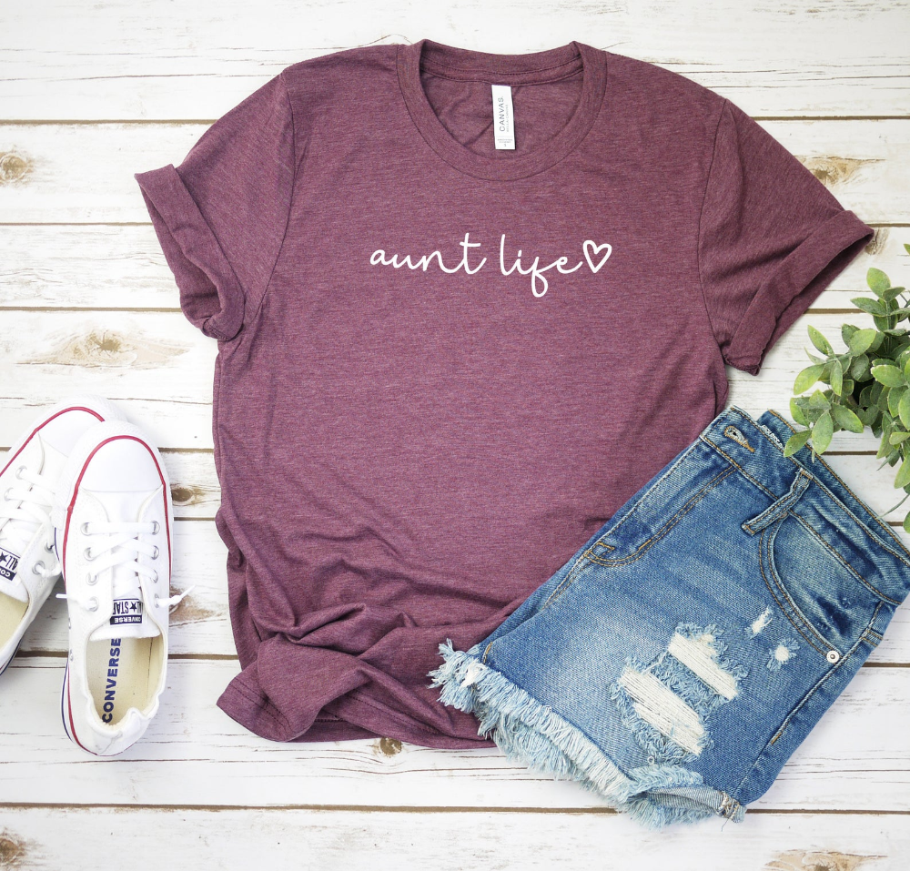 Aunt Life Script Shirt, Aunt Shirt, Auntie Shirt, Gift For Aunt, Gift For Sister, Aunt To Be Shirt, Gift For Aunts, Gift For Her