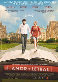 Tráiler De Amor Y Letras Información Sinópsis Y Ficha Técnica De La Película Carteles Posters Películas Movies Liberal Arts Good Movies Movie Posters