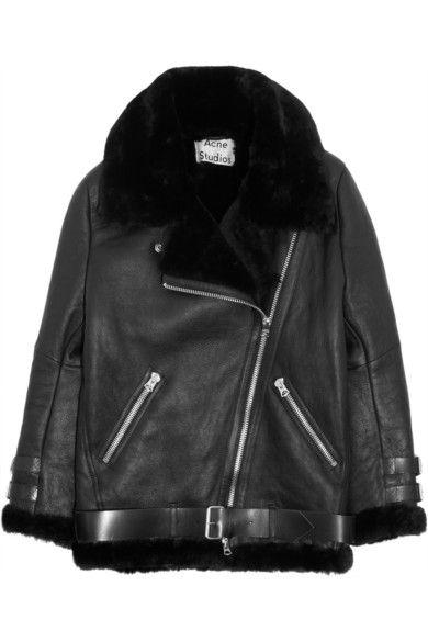 1a7c49e09 Acne Studios Velocite oversized shearling biker jacket | clothes ...