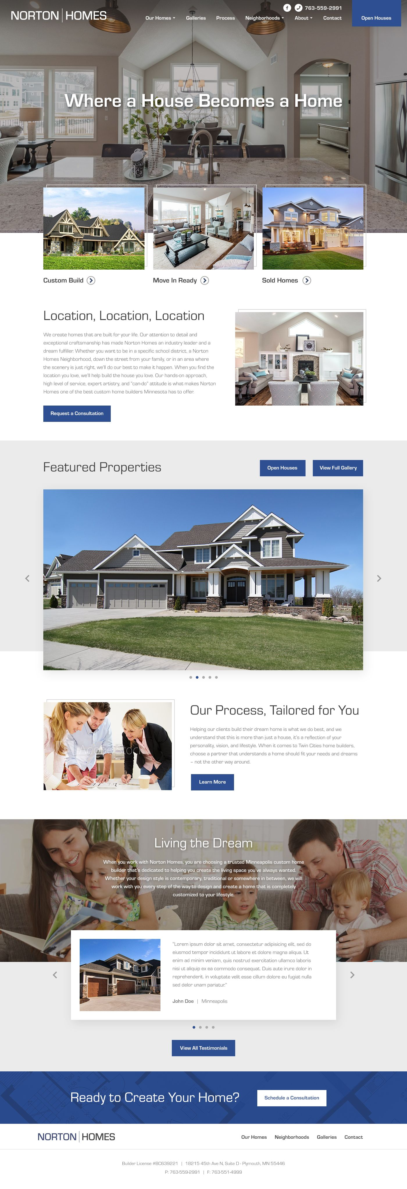 Awesome Home Builder Website Design By: Mike Delsing