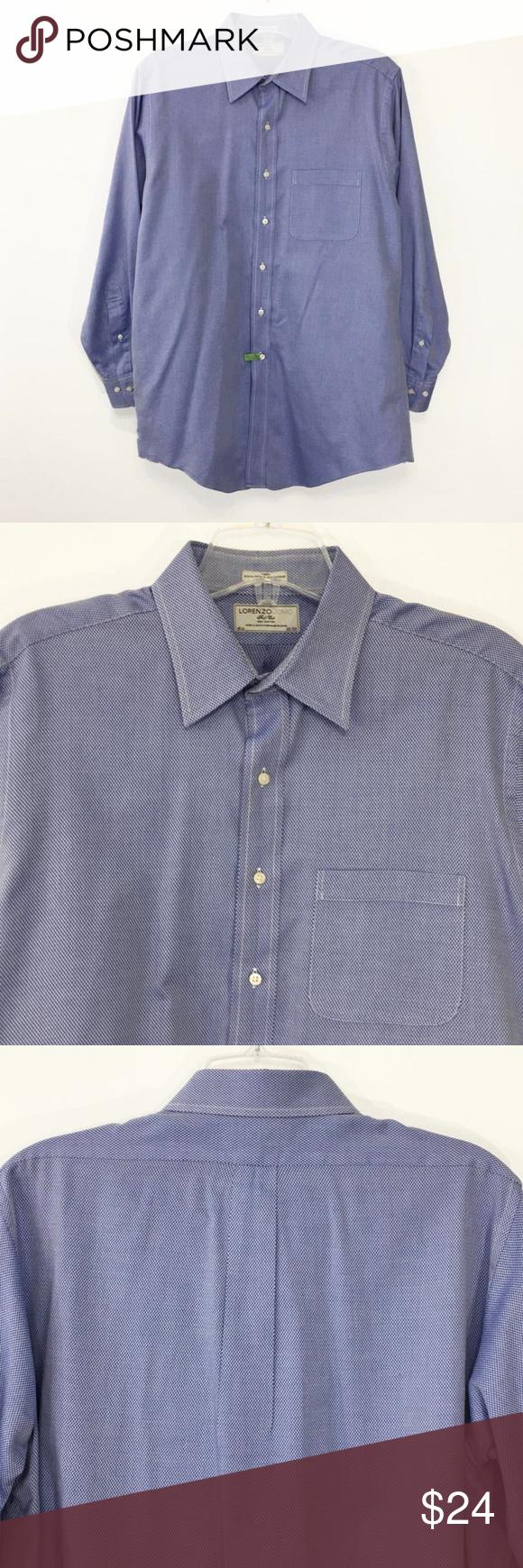 Lorenzo uomo button down long sleeve dress shirt in reseller