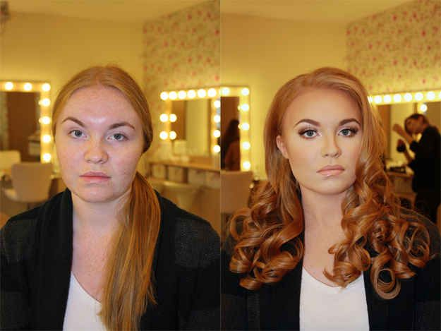 17 Incredible Photos That Show The Power Of Makeup. Makes me feel a lot better about having such a plain face :)