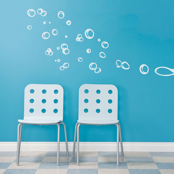 Floating Bubbles Wall Quote Decal Bathroom By WallumsWallDecals