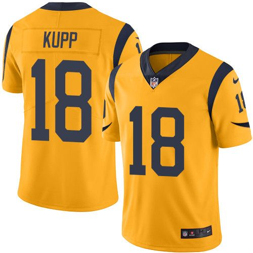 Youth Nike Los Angeles Rams #18 Cooper Kupp Limited Gold Rush NFL  for sale YuTb26FT