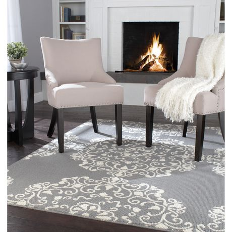 Home Trends Area Rug 6 Ft In X 8 Grey Ivory Medallion Ca