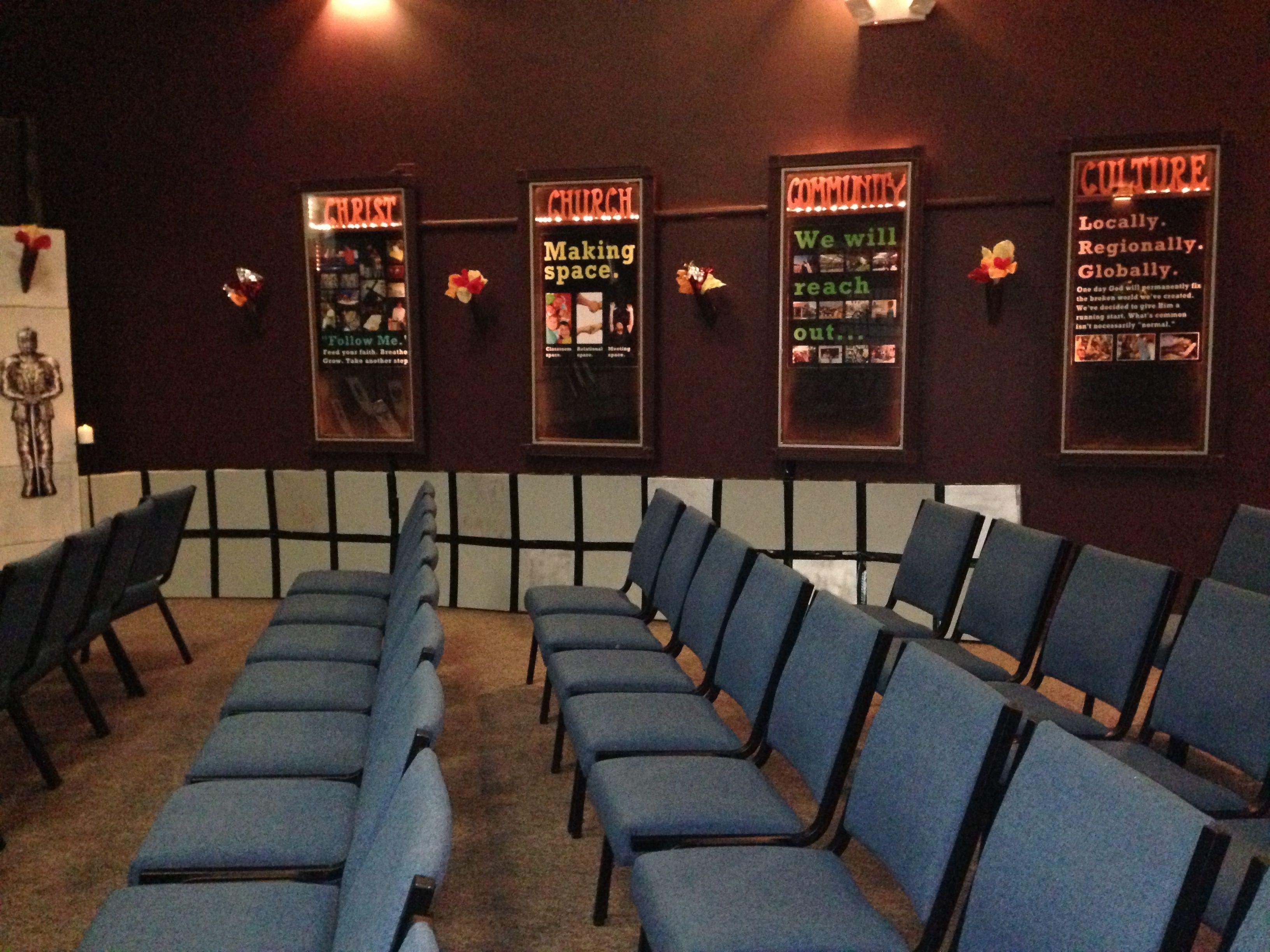 Pizza box walls and paper towel torches - Kingdom Rock VBS Connection Church Medina, Ohio