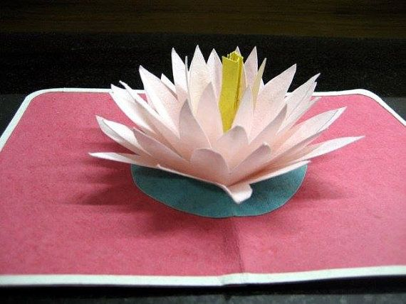 Lotus Pop Up Card Etsy Pop Up Cards Pop Up Cards