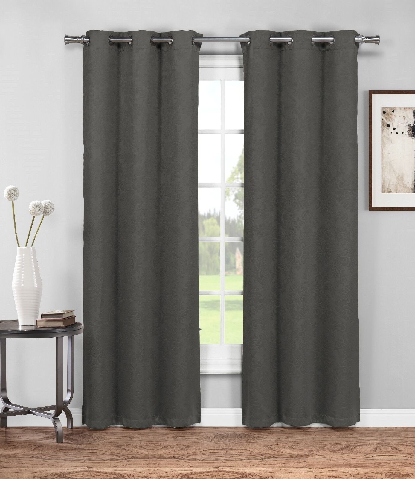Warm Home Designs 1 Pair Of 38 Charcoal Grey Insulated Thermal Blackout Energy Efficient Curtains Energy Efficient Curtains Curtains Living Room House Design