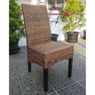 Room · Montgomery Rattan Woven Natural Dining Chairs ...