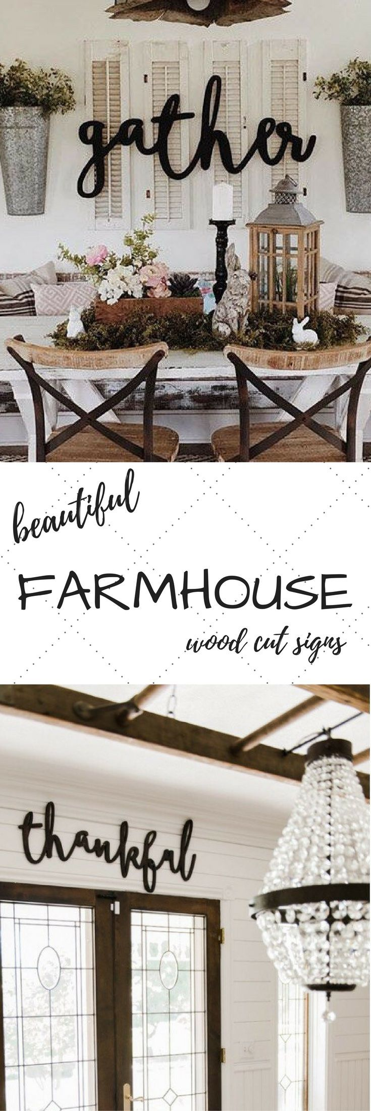 Thankful Word Wood Cut Wall Art Sign Decor   Kitchen living rooms ...