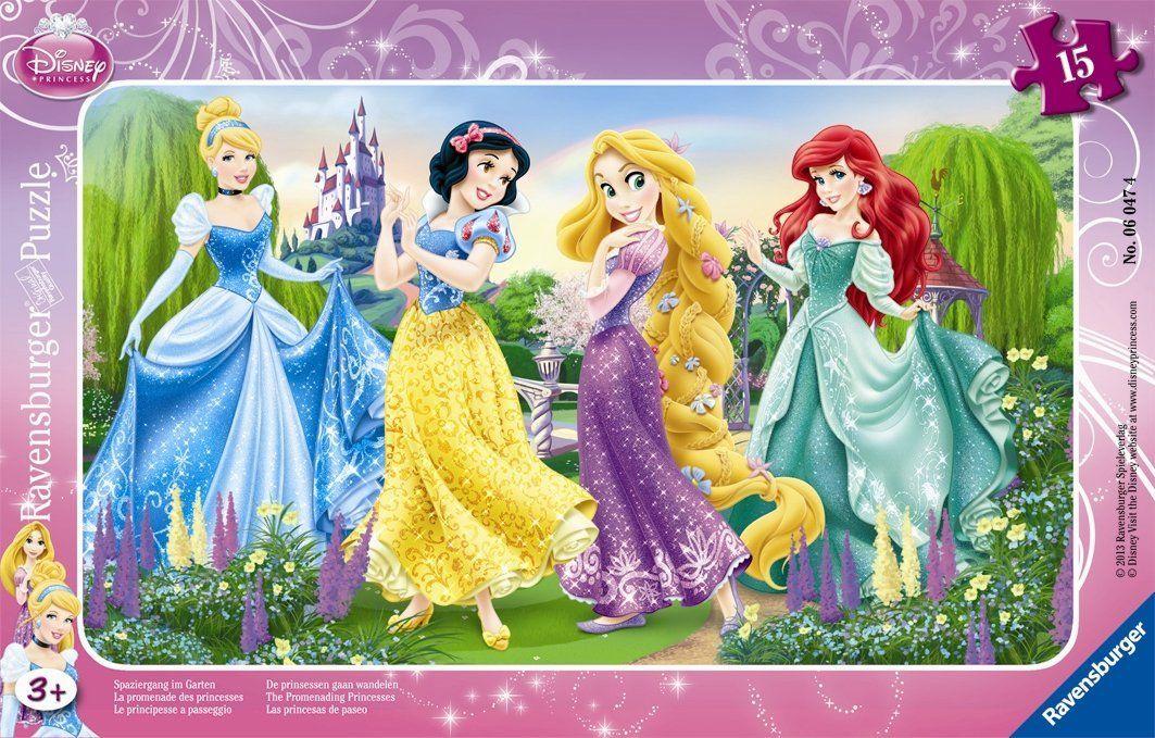 Ravensburger Puzzle Frame Disney Princess The Promenading