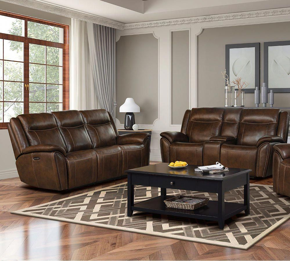 Holbrook Power Reclining Living Room Set W Power Headrests And