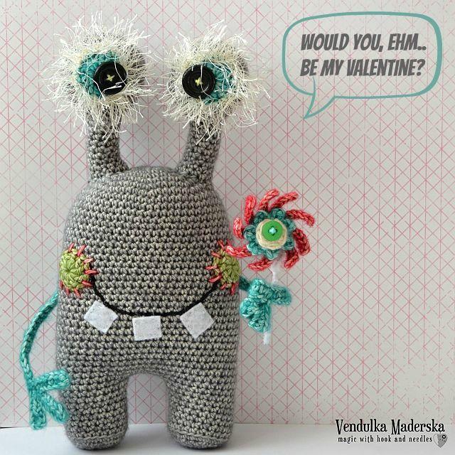 Crochet pattern - gently monster by VendulkaM