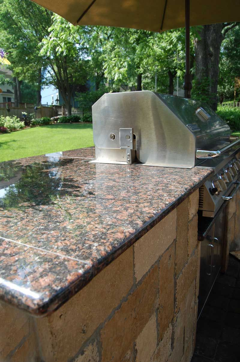 Image 3 19 Outdoor Grilling Island Finished With Lazy Tiles And