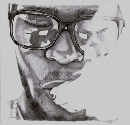 another-cool-kid-cudi-drawing | Portrait & Karikatur in 2019