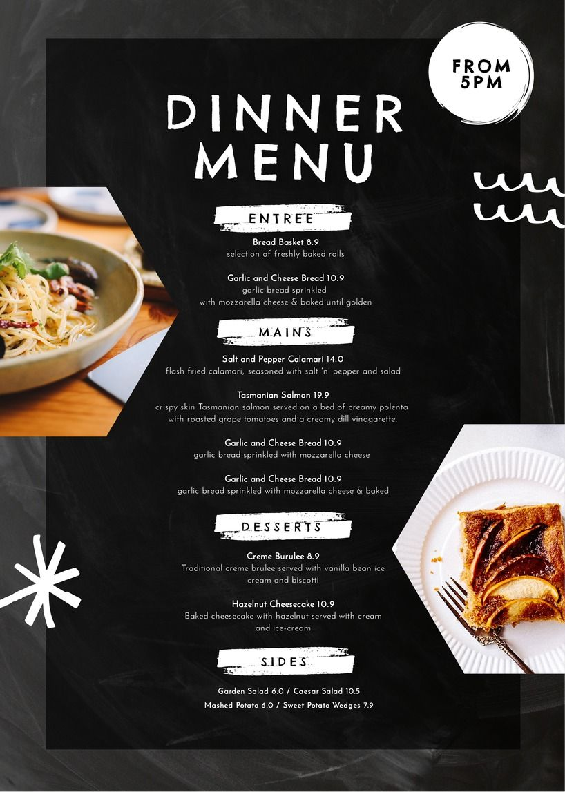 Creative Ways To Use Menu Templates To WOW Customers Pinterest - Creative menu design templates