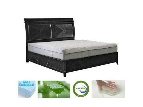 11 Quot Icon Sleep Aloe Vera Gel Infused Memory Foam Mattress Full Foam Mattress Bed Bed Mattress Memory Foam Queen Memory Foam Mattress
