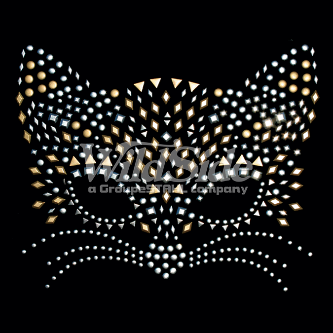 CAT MASK - 15557 - The WildSide | Rhinestones Transfers