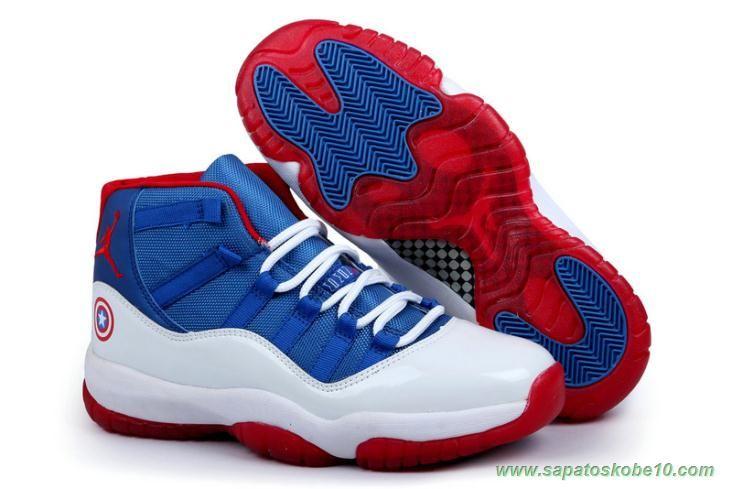 Claire Sinis Tamano relativo  AIR JORDAN 11 Branco/Vermelho/Azul Captain America tenis para vender -  [652141-268] | Air jordan retro, Zapatos jordan para chicas, Air jordans