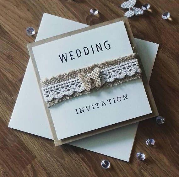 Rustic Hessian Wedding Invitations Uk