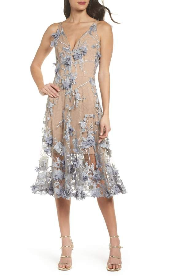 2f06f6d1b Dress the Population Audrey Embroidered Fit & Flare Dress | Products ...