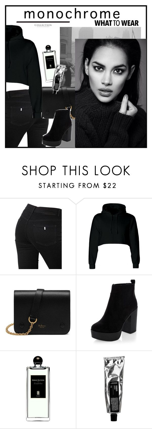 """Untitled #358"" by noonemore ❤ liked on Polyvore featuring STELLA McCARTNEY, Mulberry, New Look, Serge Lutens and monochrome"