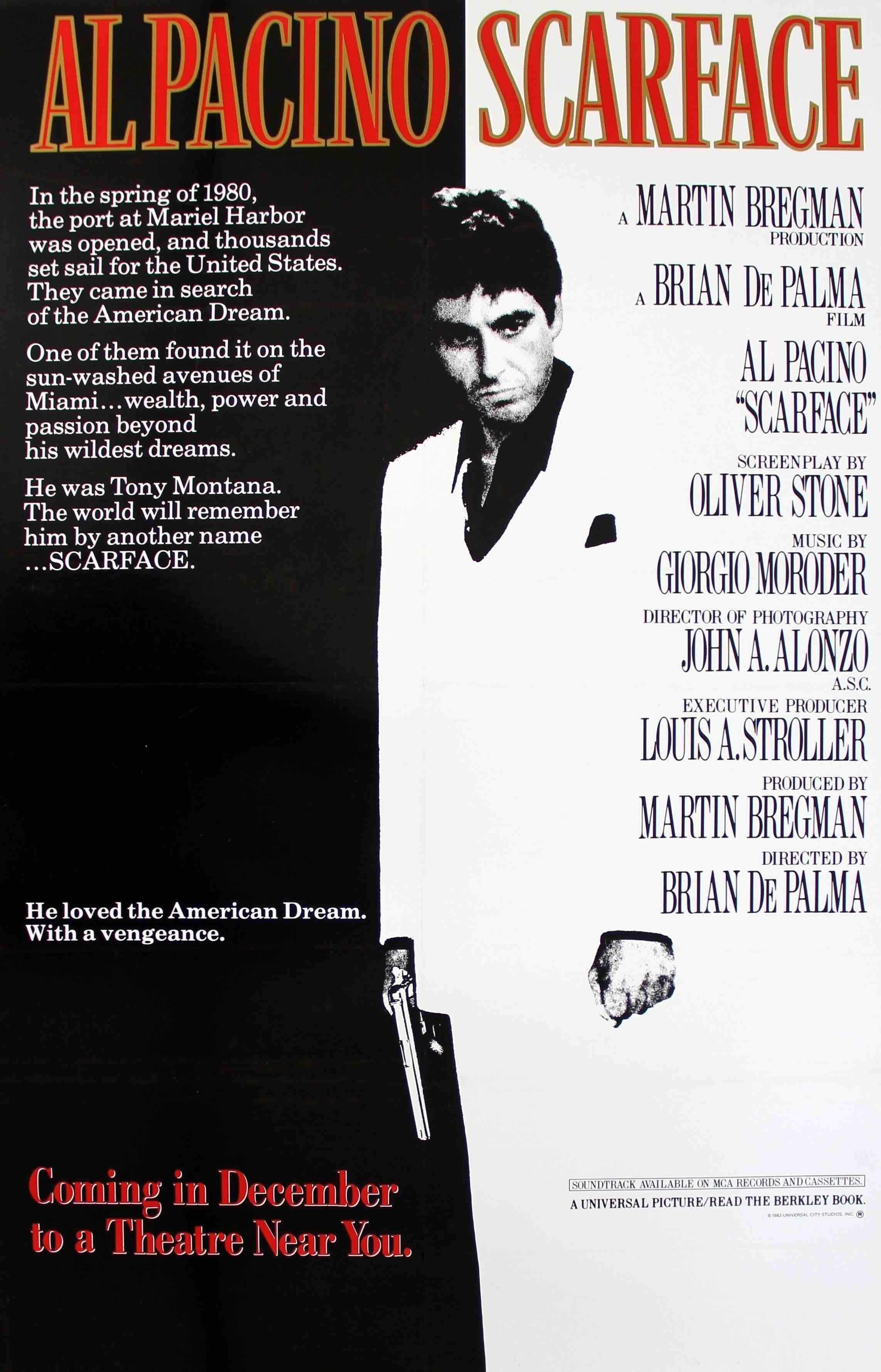 Scarface (1983) in 2018 | FILM SCHOOL | Pinterest | Movies, Movie ...