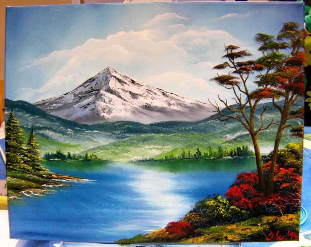 Ölmalerei im Bob Ross Stil Jana Luther, 30x40cm ...