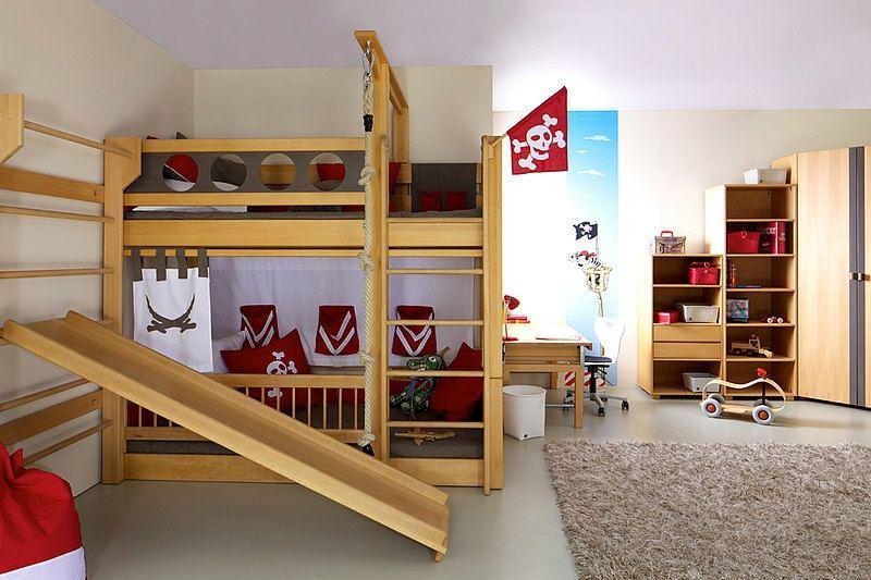 Etagenbetten Mit Rutsche : Himmelbett hochbett kiefer mit rutsche baldachin kids dreams
