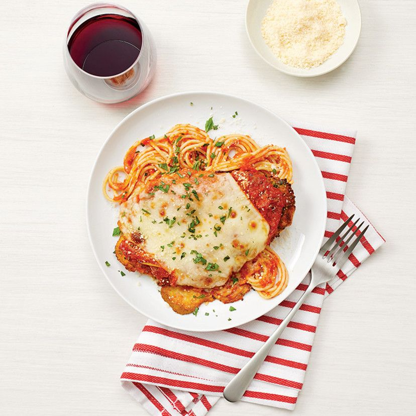 Chicken parmesan with spaghetti recipe food network